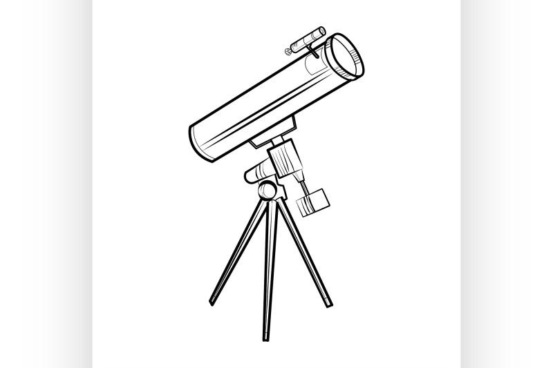 sketch-telescope-icon
