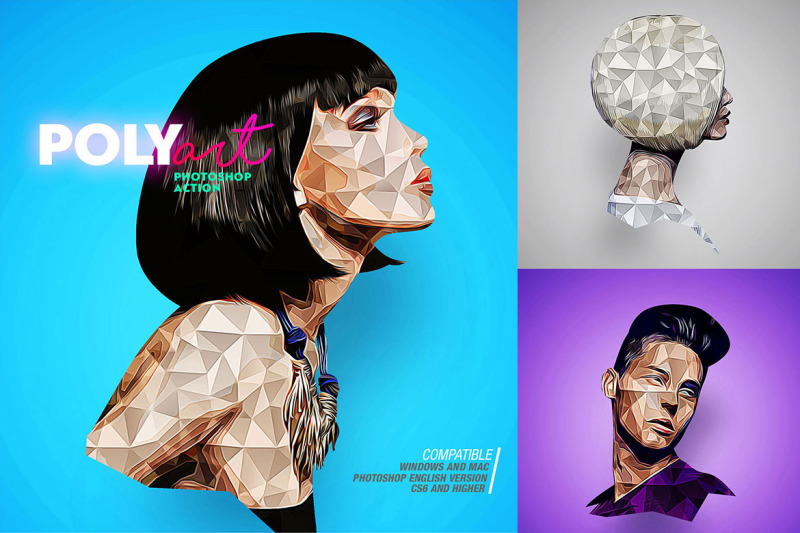low-poly-photoshop-action