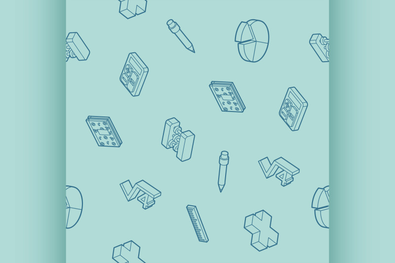 algebra-outline-isometric-pattern