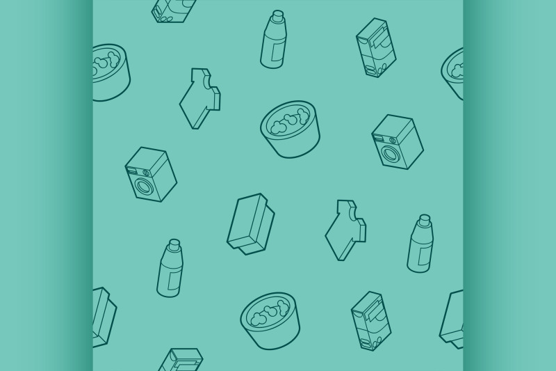 laundry-outline-isometric-pattern