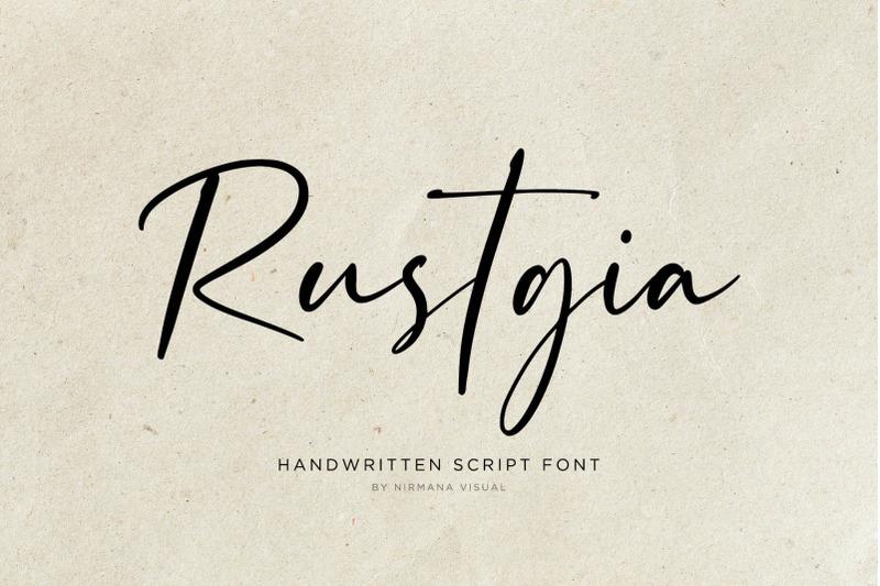 rustgia-handwritten-script