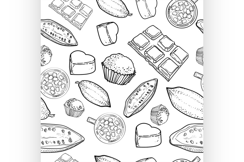 chocolate-vector-pattern-of-hand-drawing