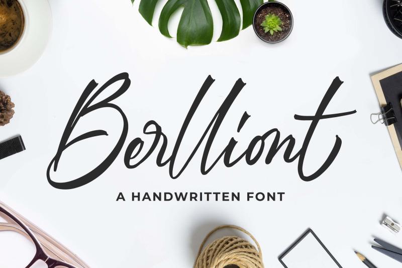 berlliont-a-handwitting-font