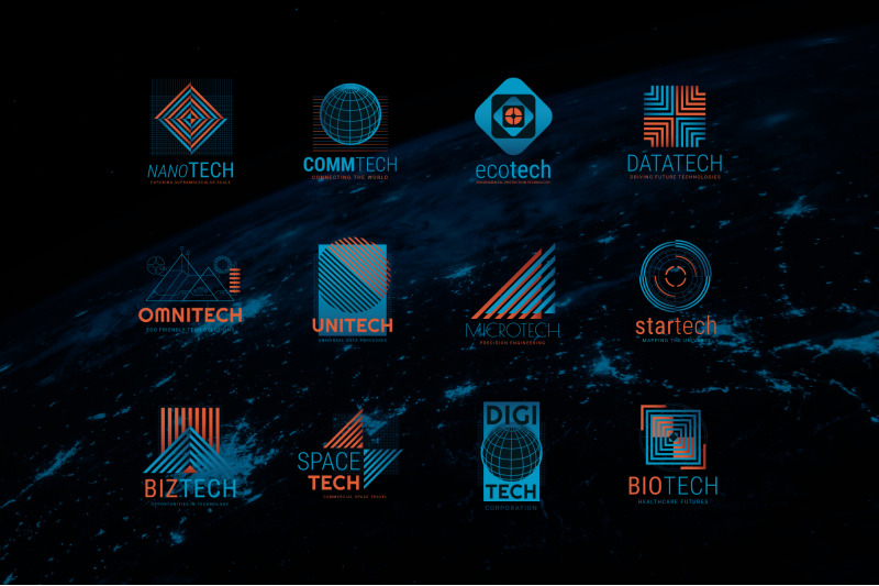 business-science-and-technology-logo-templates
