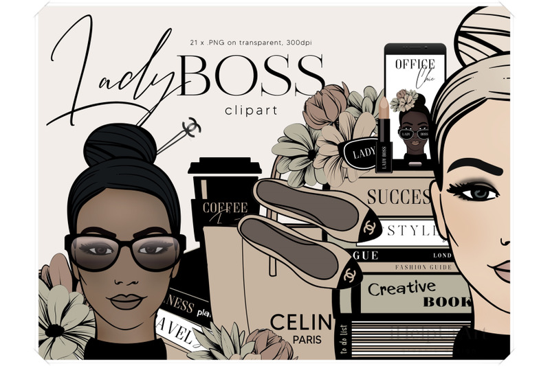 girl-boss-clipart-fashion-illustration