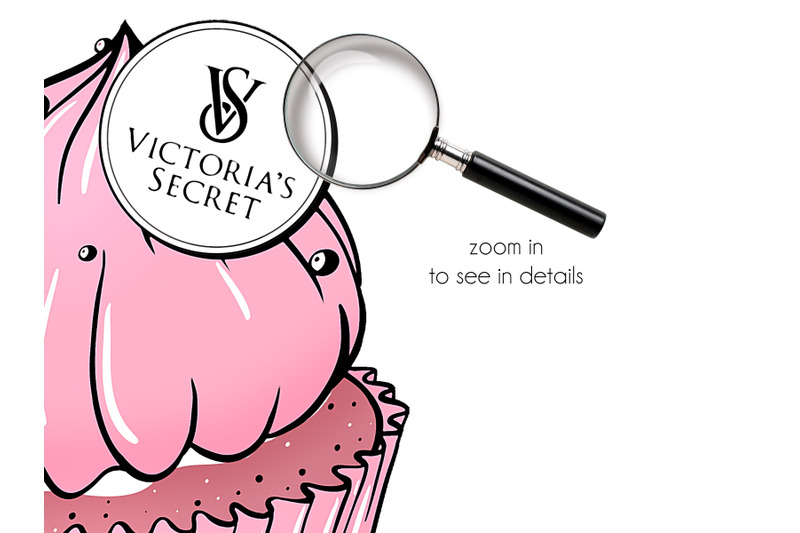 cupcakes-clipart-luxury-brands-fashion-illustration