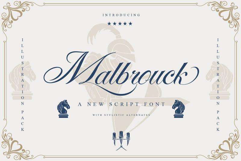 malbrouck-classic-script-font