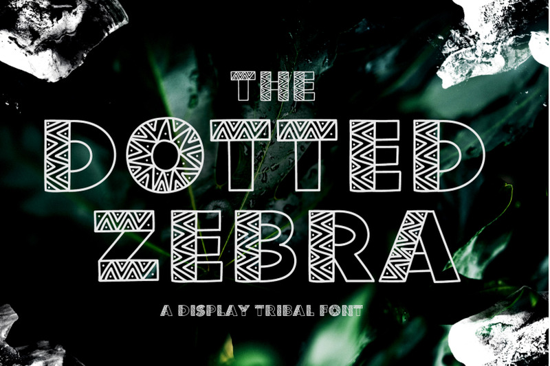the-dotted-zebra-tribal-display-font