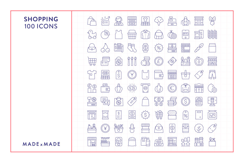 line-icons-shopping