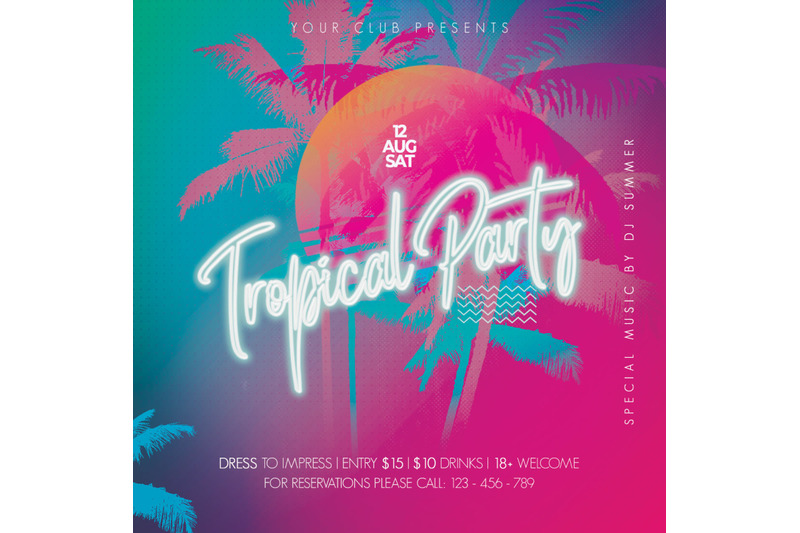 summer-tropical-night-party