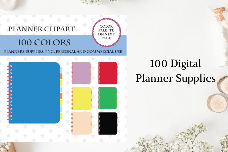 100-notebook-clipart-planner-clipart-office-supplies-clipart