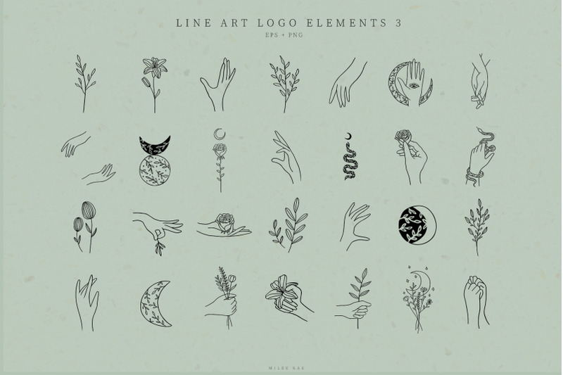line-art-logo-elements-logo-design-business-illustration-one-line