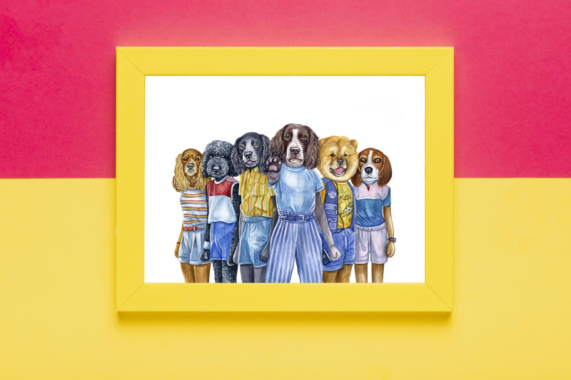 dog-in-clothes-watercolor-set-8-exclusive-dog-illustrations