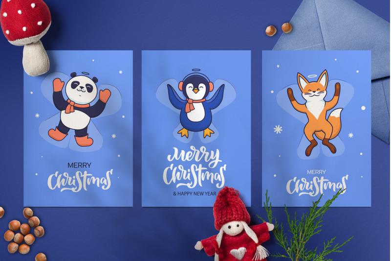 christmas-set-snow-angels-amp-animals