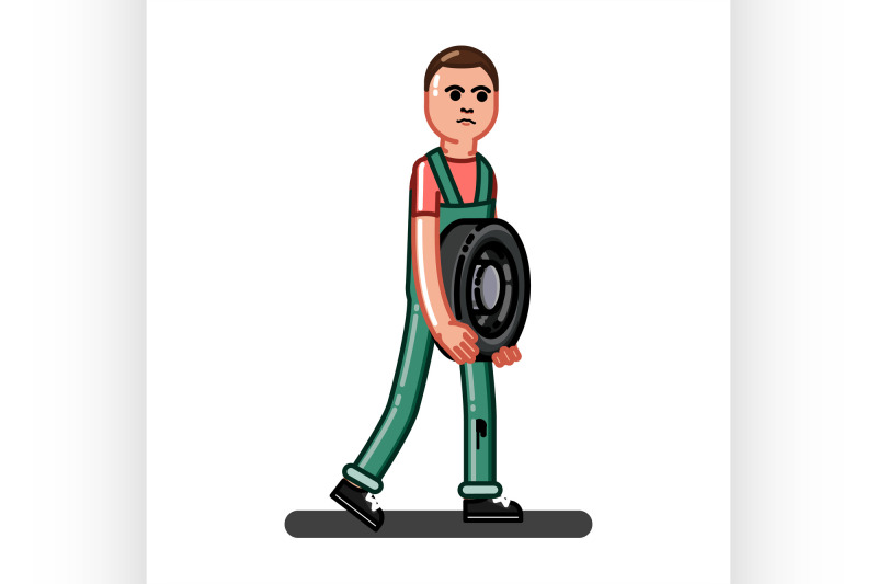 man-carries-the-tire