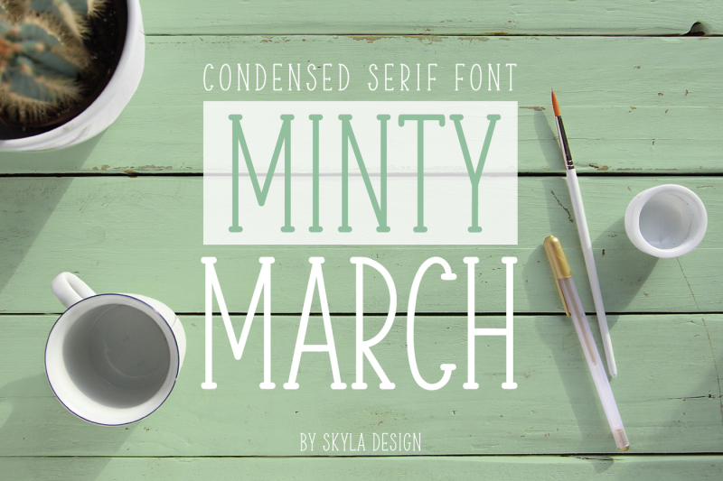 cute-condensed-font-minty-march