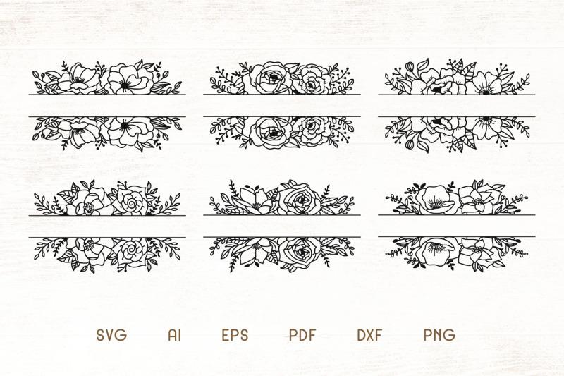 floral-split-monogram-divider-frames-svg-vector