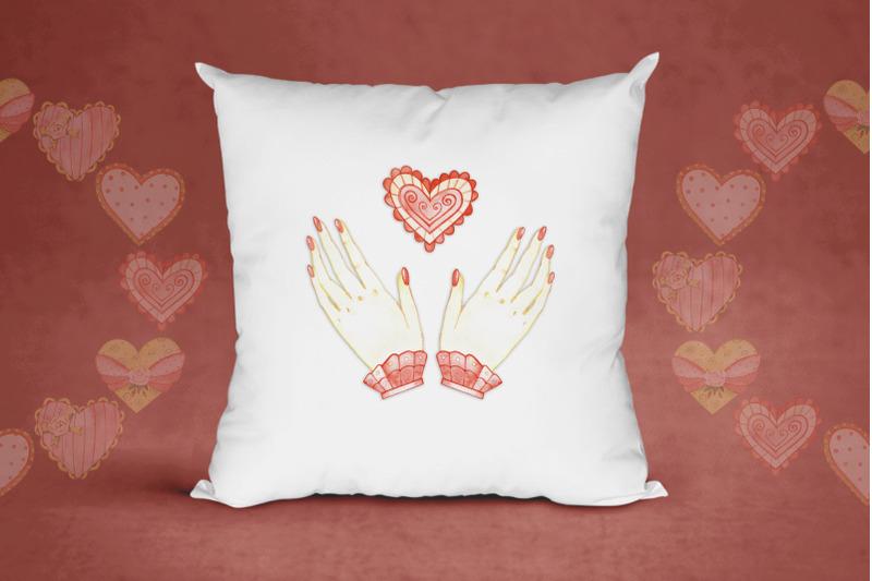 watercolor-hearts