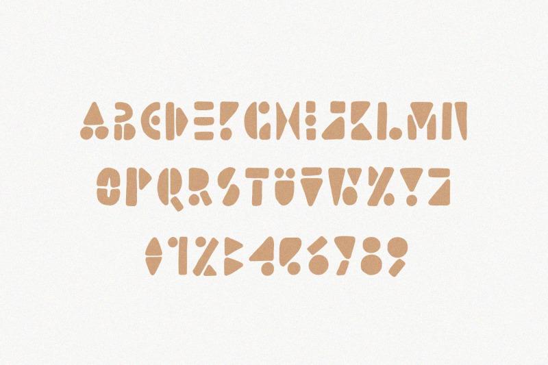 lion-card-handmade-geometric-font