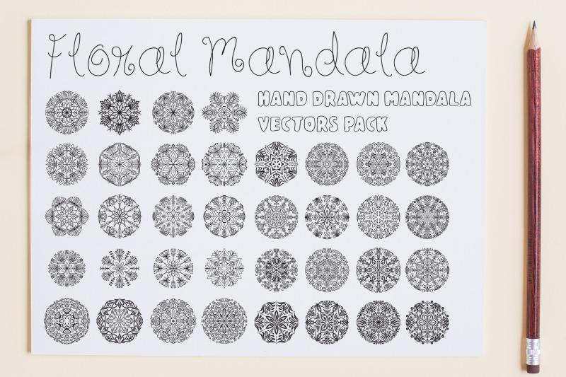 floral-mandala-vector-pack