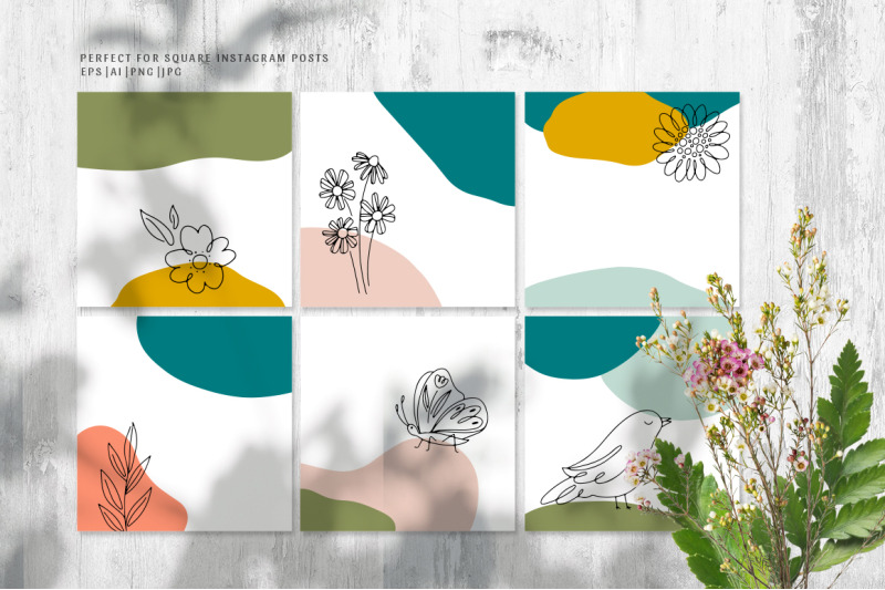 nature-summer-line-art-collection