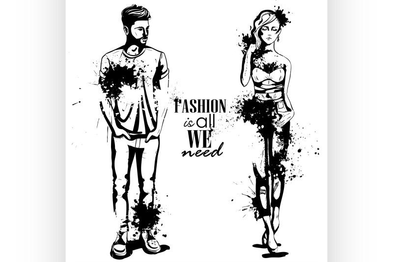 vector-woman-and-man-fashion
