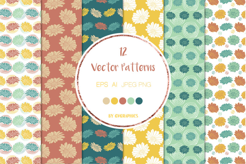 12-colorful-flowers-and-doodles-vector-patterns