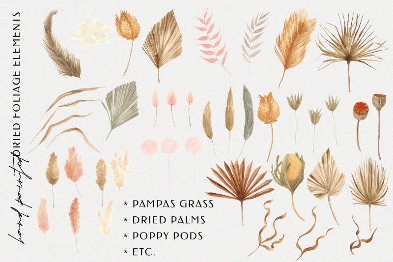 bohemian-dried-foliage-illustration-pack