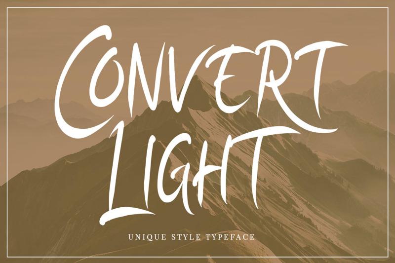 convert-light-unique-typeface