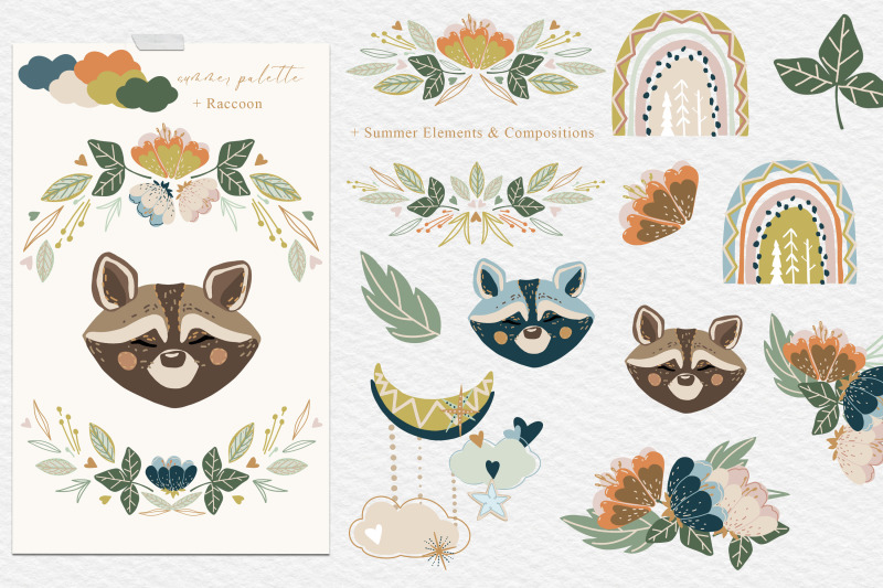 forest-rainbows-baby-animal-vector-collection