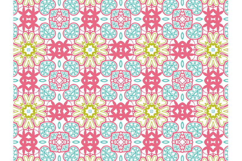 pattern-abstract-pink-blue-green-color