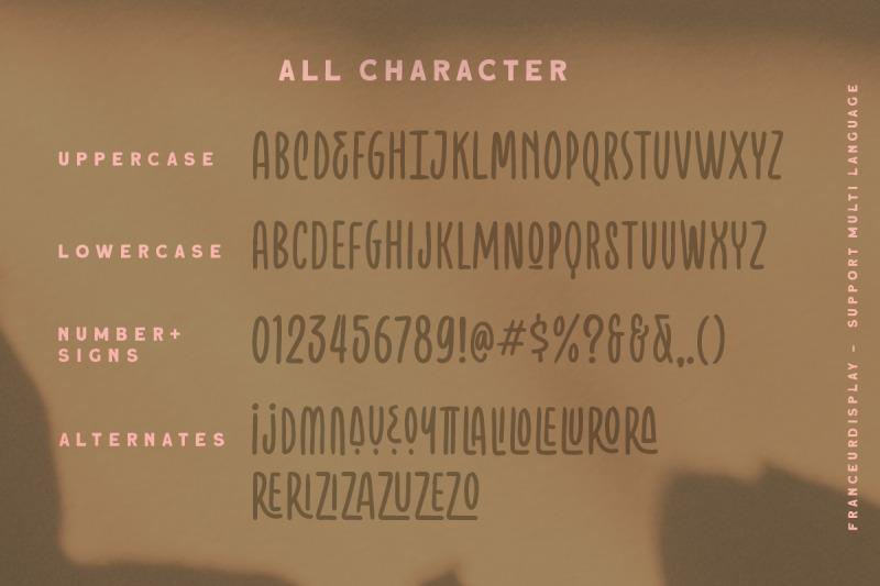 franceur-condensed-typeface