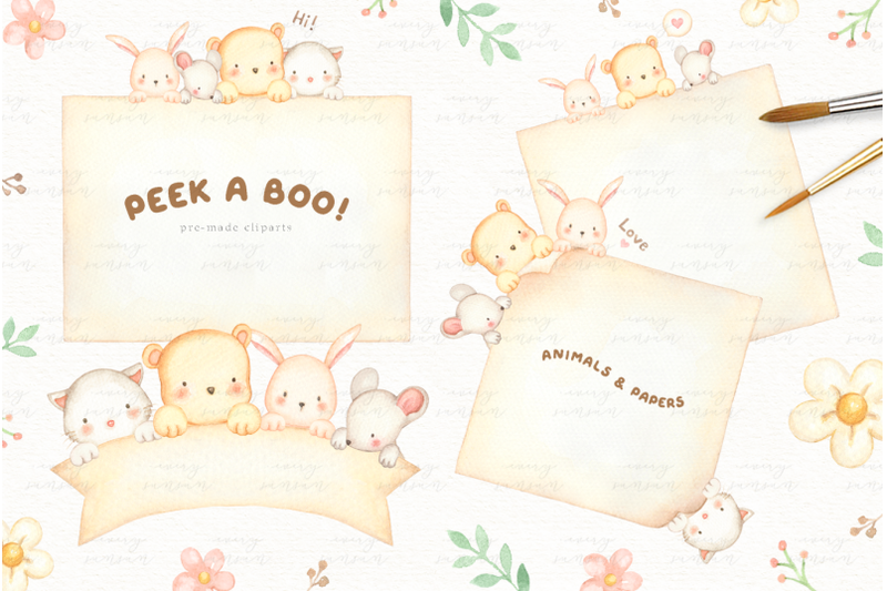 peek-a-boo-watercolor-clipart