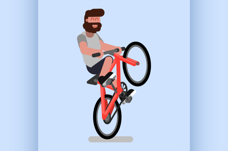 man-rides-a-bicycle-on-one-wheel