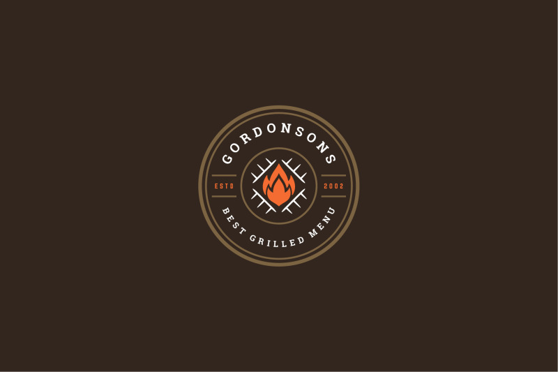barbecue-grill-logo-template