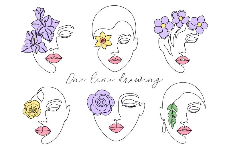 floral-lady-line-art