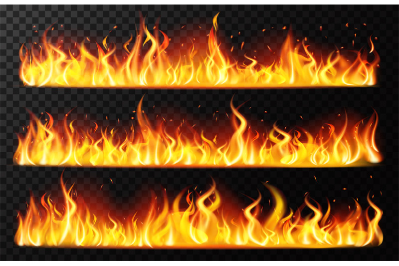 realistic-flame-borders-burning-horizontal-fire-flame-red-burning-bl