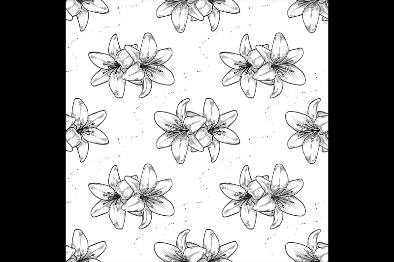 vector-hand-drawn-lily-seamless-pattern