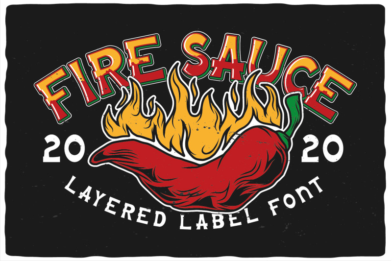 fire-sauce-layered-font