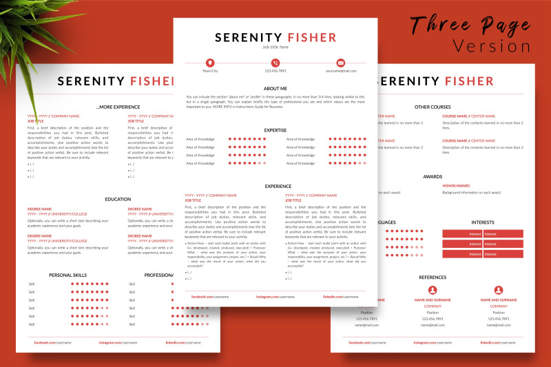 modern-resume-sample-for-microsoft-word-amp-apple-pages-serenity-fisher