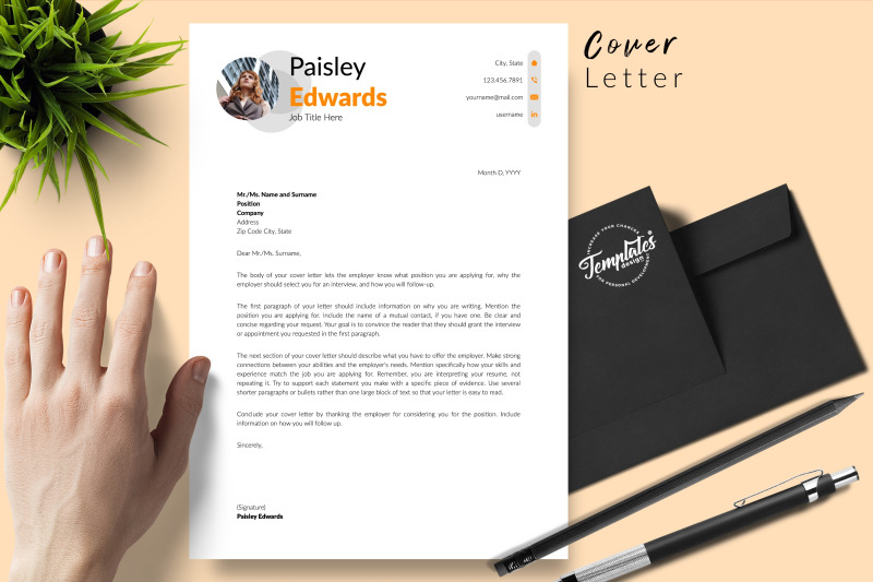 modern-resume-sample-for-microsoft-word-amp-apple-pages-paisley-edwards