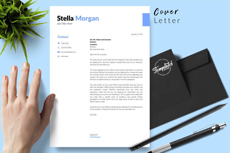 simple-resume-template-for-microsoft-word-amp-apple-pages-stella-morgan