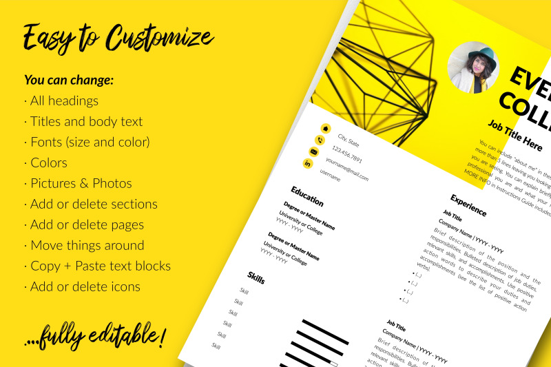 modern-resume-template-for-microsoft-word-amp-apple-pages-evelyn-collins