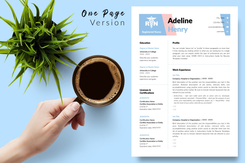 nurse-resume-template-for-microsoft-word-amp-apple-pages-adeline-henry
