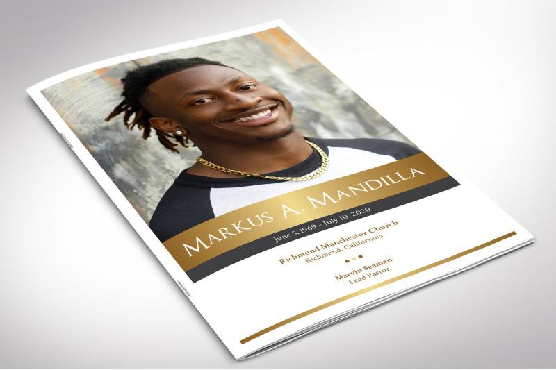 kings-funeral-program-indesign-template