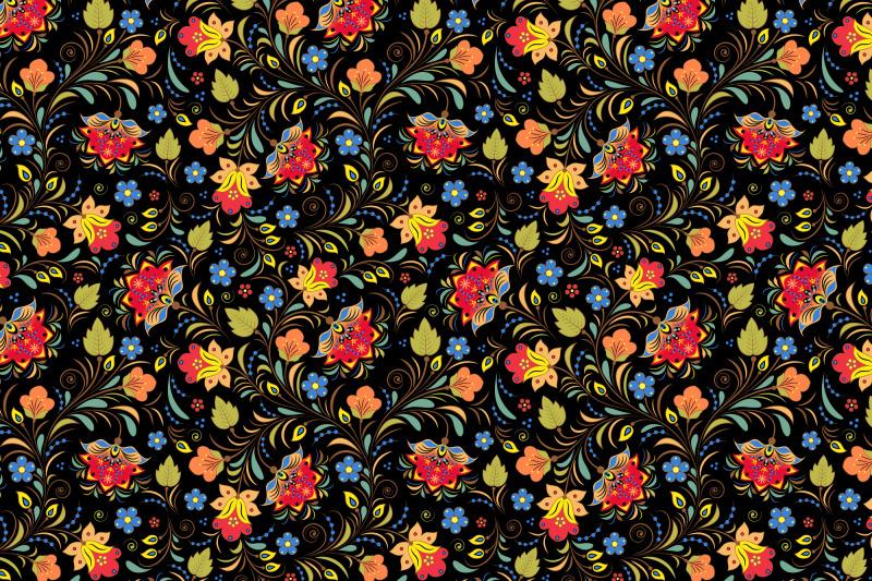 khokhloma-russian-pattern