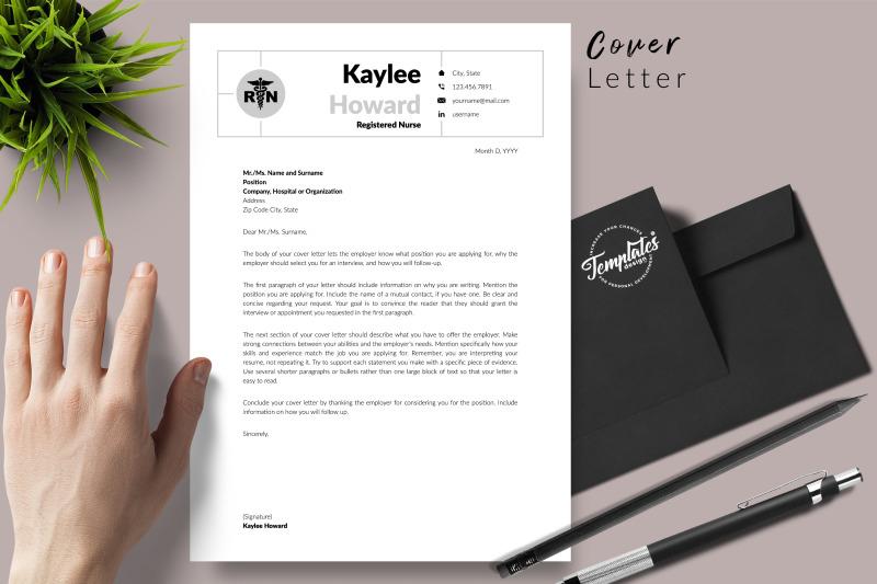 nurse-resume-template-for-microsoft-word-amp-apple-pages-kaylee-howard