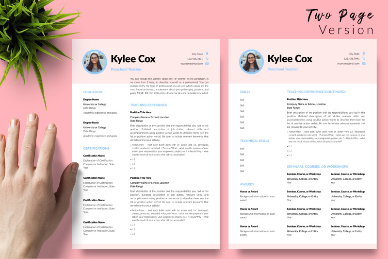 teacher-resume-cv-template-for-microsoft-word-amp-apple-pages-kylie-cox