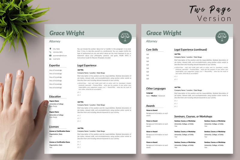 legal-resume-cv-template-for-microsoft-word-amp-apple-pages-grace-wright