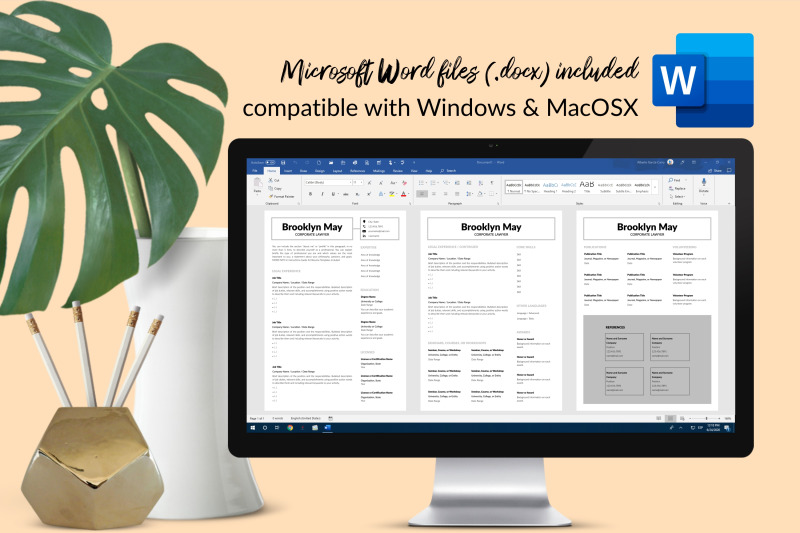 legal-resume-cv-template-for-microsoft-word-amp-apple-pages-brooklyn-may